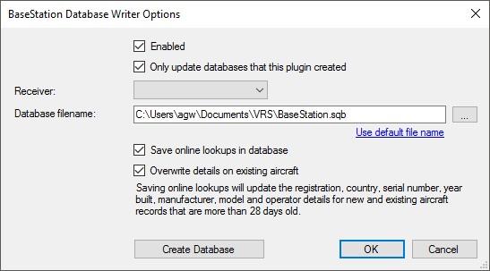 Database Writer Plugin